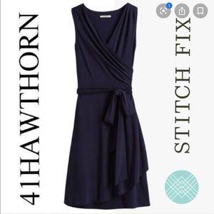 41 Hawthorn stitch fix black faux wrap dress